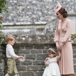 Catherine, Duchess of Cambridge, Prince George and Princess Charlotte