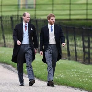 Princes William and Harry in morning dress