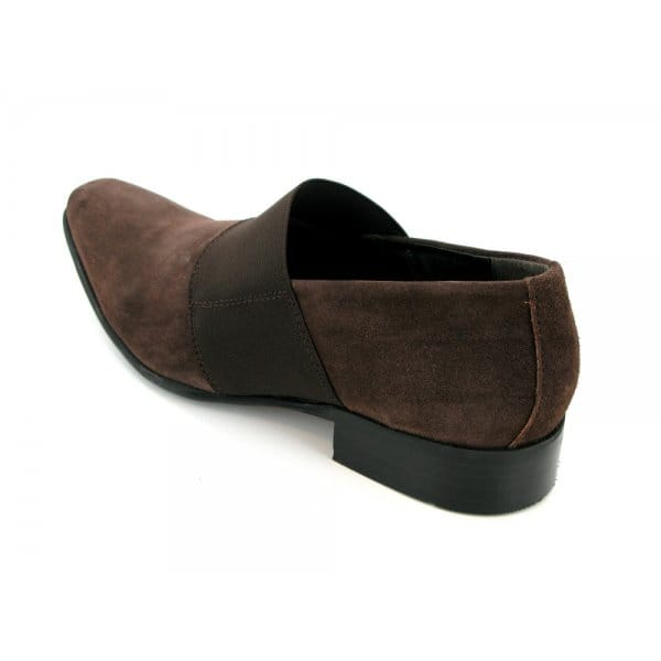 gucinari hulio mens suede leather slip on casual shoes