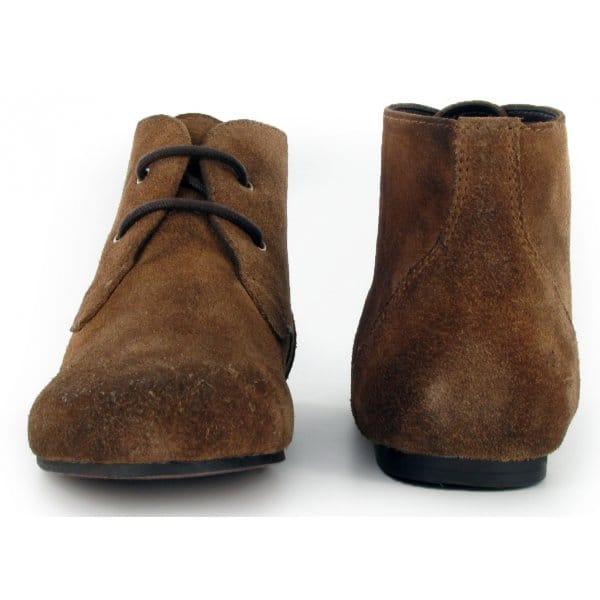 flat suede ankle boots