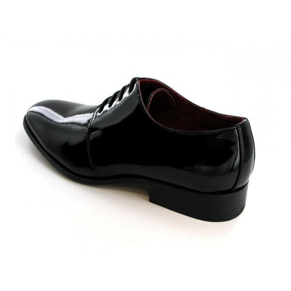 shuperb mens smart formal patent evening shoes black