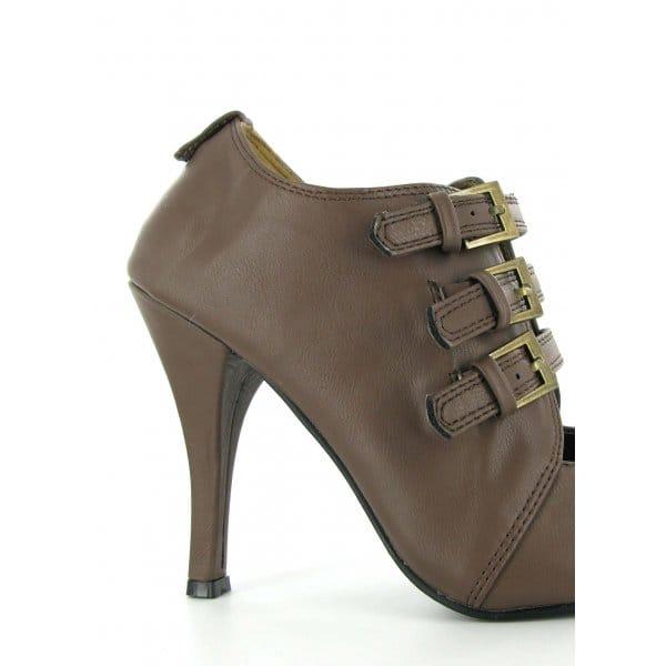 shuperb womens buckle high heel casual shoes