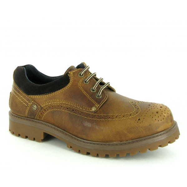 Wrangler YUMA BROGUE Mens 4 Eyelet Leather Shoes Dirty