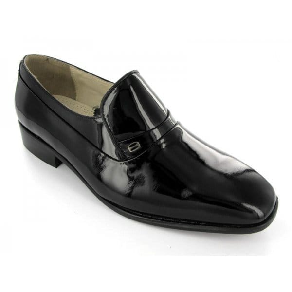 montecatini mens patent leather slip on evening shoes