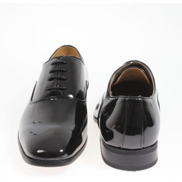 boys 4 eyelet lace up patent leather smart dress shoes