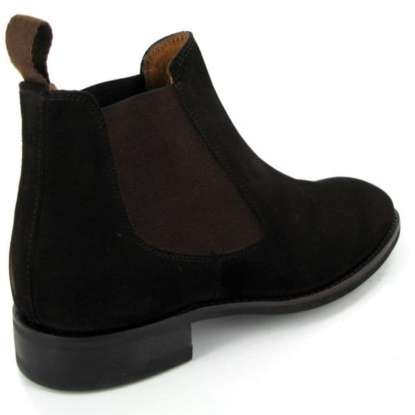 lucini mens suede welted dainite chelsea boots brown buy