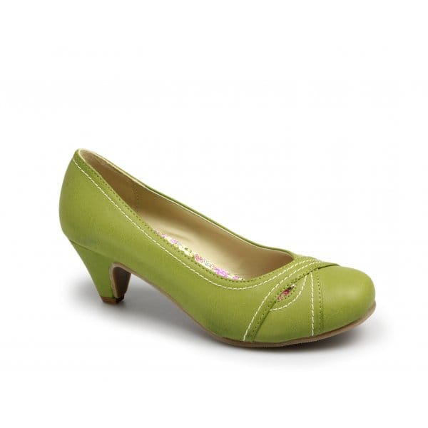 buy online 4c7c8 c464b Details about Womens Ladies Low Heel Summer Smart Fashion Office Court Shoes  Lime Green New