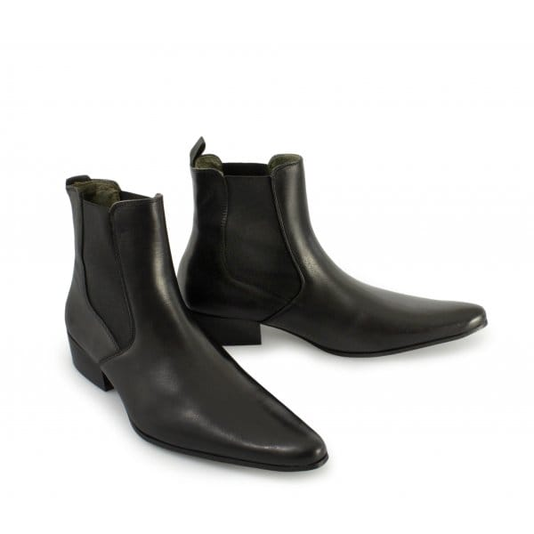 ikon revolver mens cuban heel pointed leather chelsea