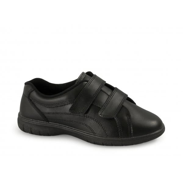 Free-Step-REX-Womens-Twin-Velcro-Extra-Wide-Leather-Shoes-EEE-Freestep-Black