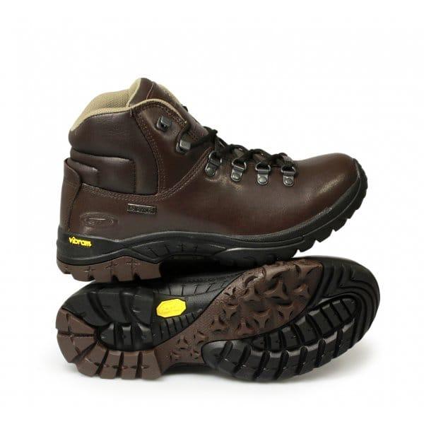 hi tec coniston mens waterproof walking boots brown hi