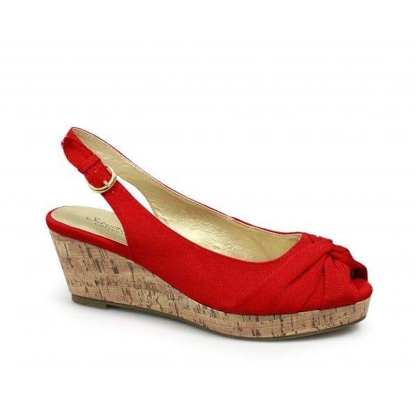 womens wedge heel peep toe platform summer casual