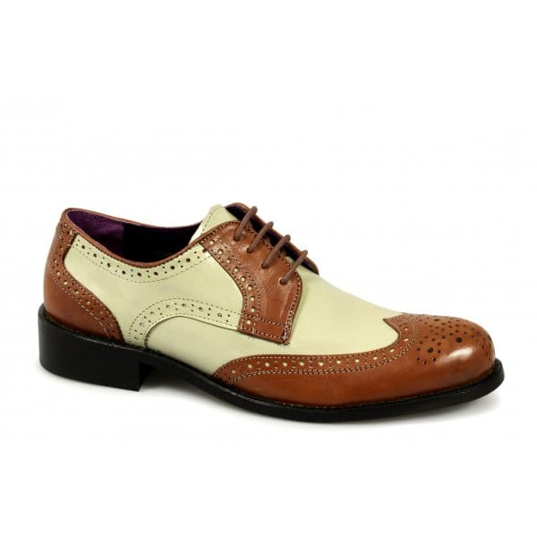 gucinari mens leather spats brogue gangster 1950 s jazz