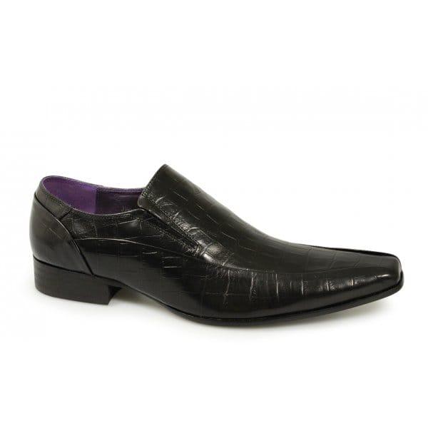 gucinari mens reptile leather slip on casual office formal