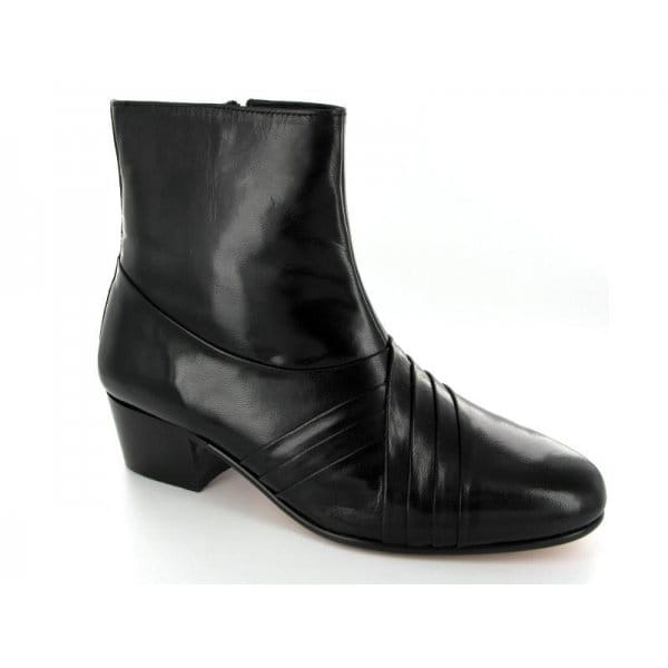 rombah wallace curzon mens cuban heel pleated leather