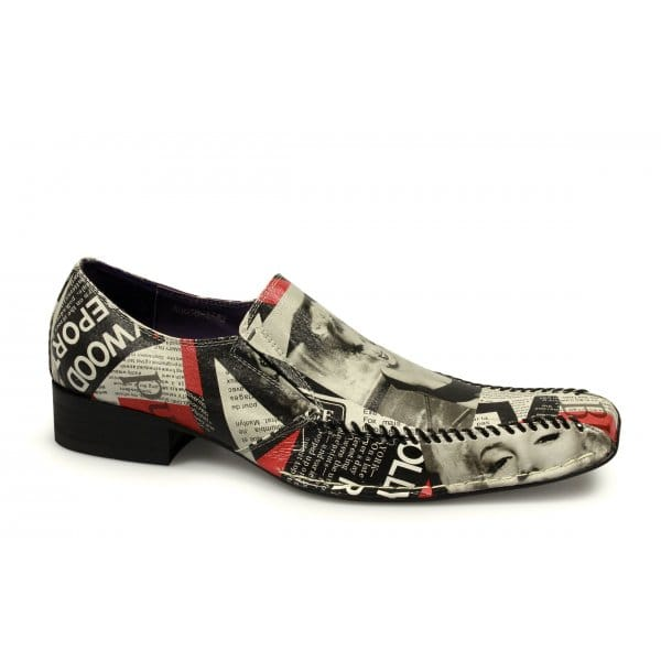 Gucinari MARILYN MONROE Mens Funky Leather Slip On Party Shoes ...