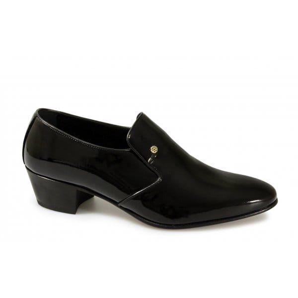 Mens Patent Cuban Heel Shoes