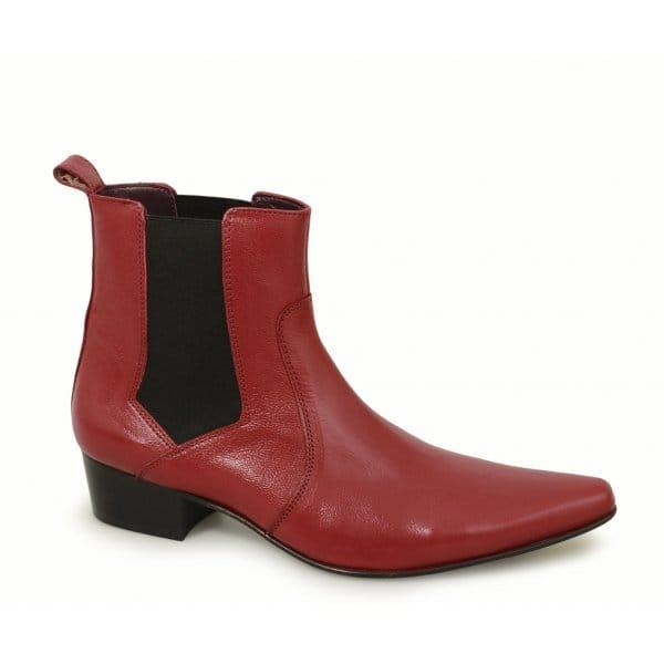 gucinari mens cuban heel pointed leather winklepicker