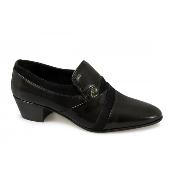 mens nubuck leather cuban high heel dress formal