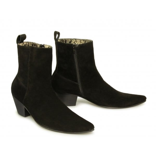 paolo vandini veer xii mens suede cuban boots black buy