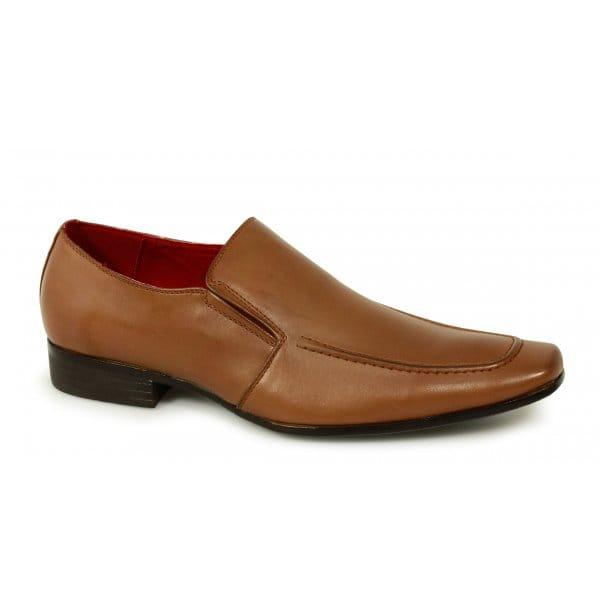 mens italian style leather lined slip on casual smart