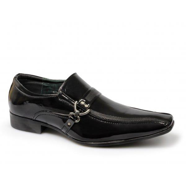 mens patent shiny wedding formal dress suit shoes chisel