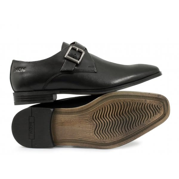Ikon KENSINGTON Mens Side Buckle Shoes Black From