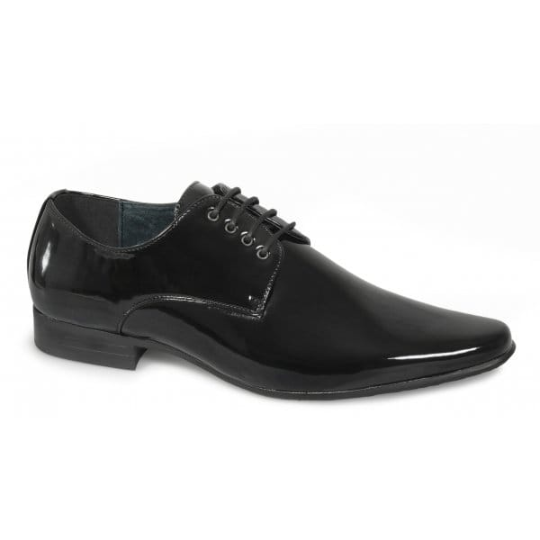 mens pointed patent smart wedding formal leather lined