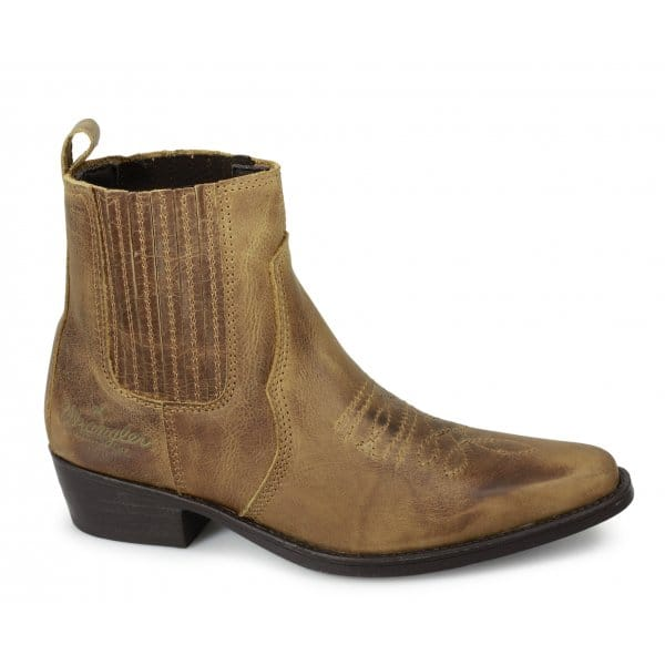 wrangler low mens ankle length leather cowboy boots