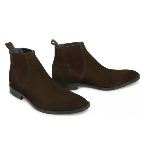 gucinari verona mens suede leather welted chelsea boots