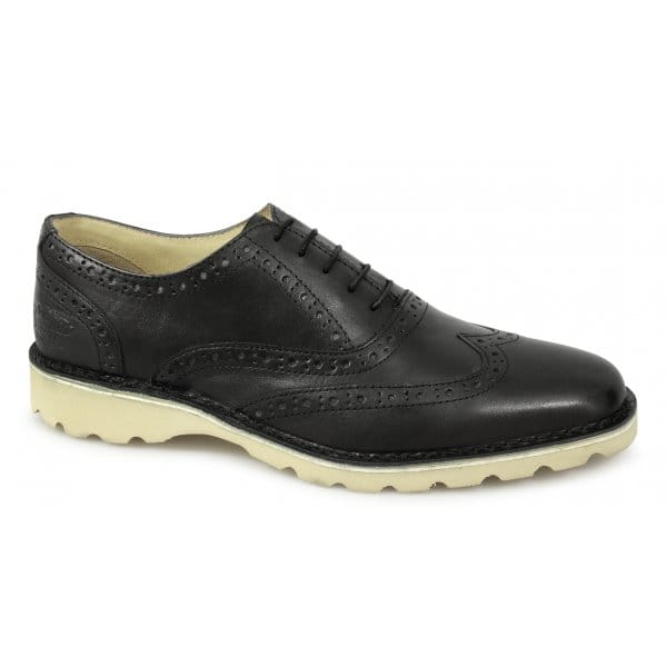 penguin westchester mens leather brogue shoes black buy