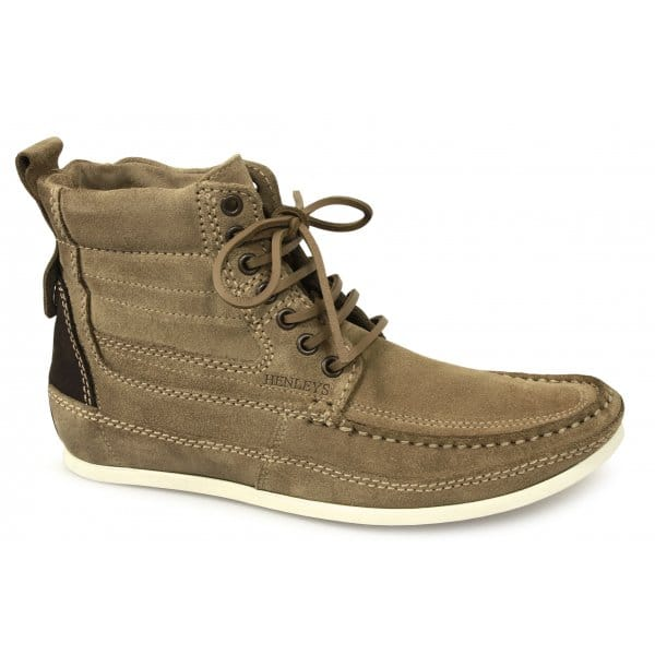henleys smokie mens handfinished soft lace up suede