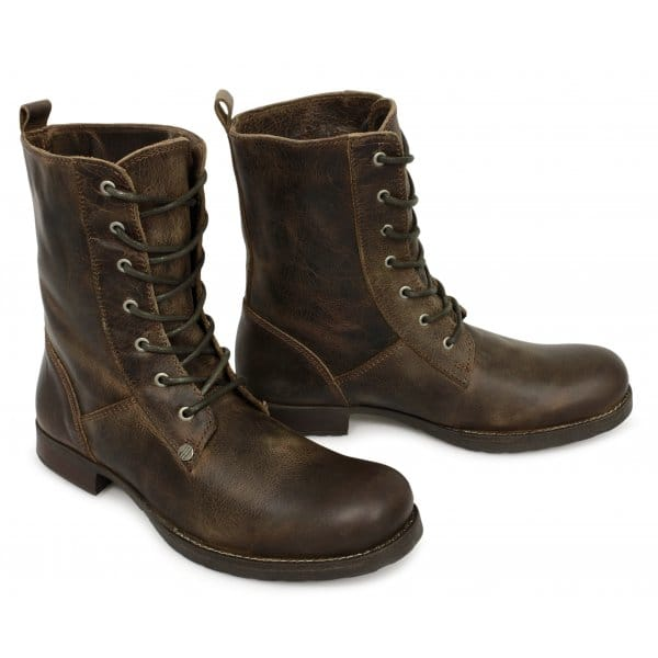 henleys scholar mens leather lace up boots brown