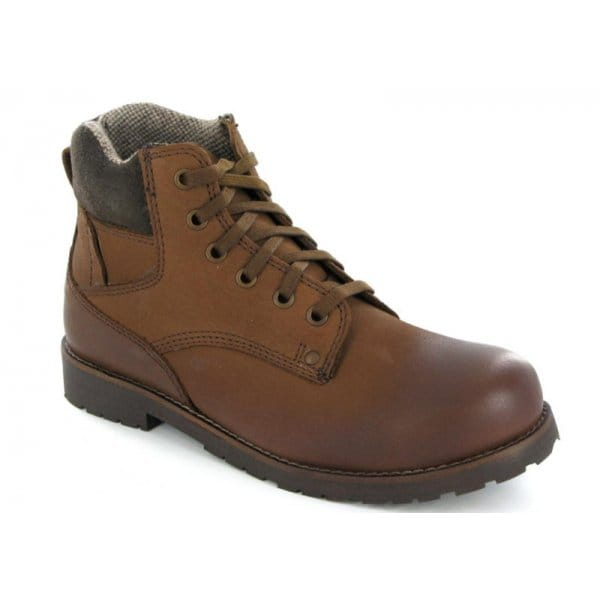 hx gunnersbury mens leather walking boots brown