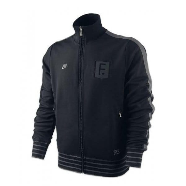 Nike-FFF-N98-Mens-Full-Zip-Dri-Fit-France-Fitness-Running-Track-Jacket-Black-New