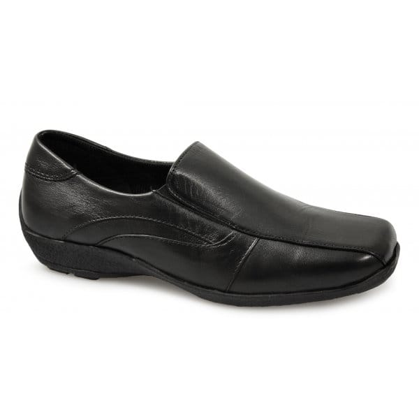 LADIES FLAT BLACK VELCRO STRAPS COMFORT CAUAL WORK WOMENS FORMAL SHOES SIZE 3-8