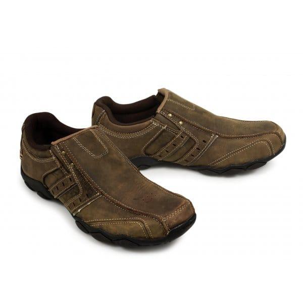 skechers diameter heisman mens slip on shoes brown buy