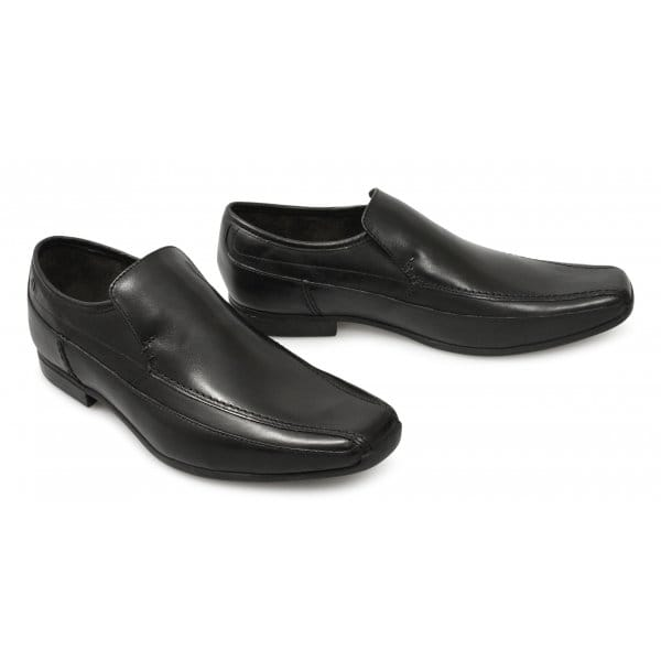 Base London Mens Tumble Slip On Shoes Waxy Black