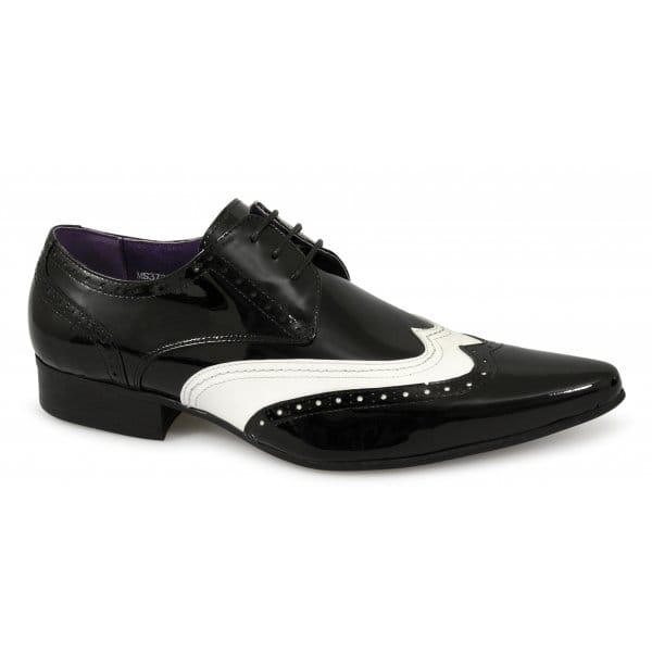 Details about Gucinari Mens Patent Leather Fancy Dress Gangster Funky