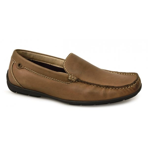 lotus partington mens soft leather casual slip on moccasin