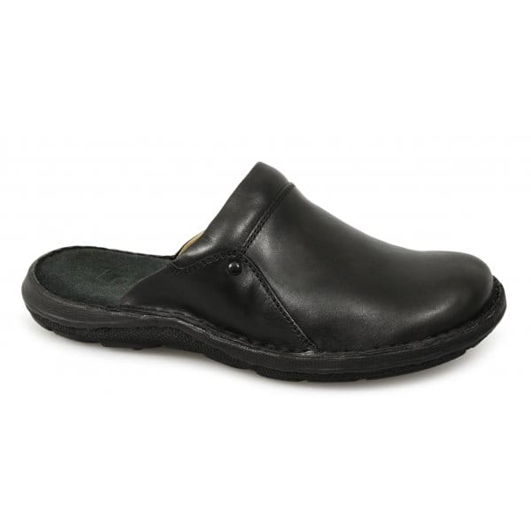 lotus grantham mens leather cushioned padded mule slip on