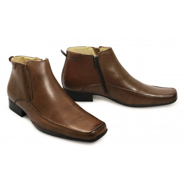 front catterick mens side zip leather ankle boots