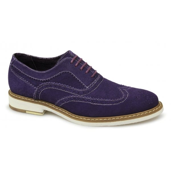 gucinari mens suede leather brogue lace up smart casual