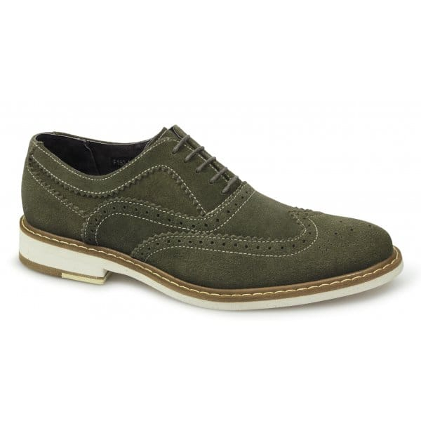 gucinari mens suede leather brogue lace up casual designer