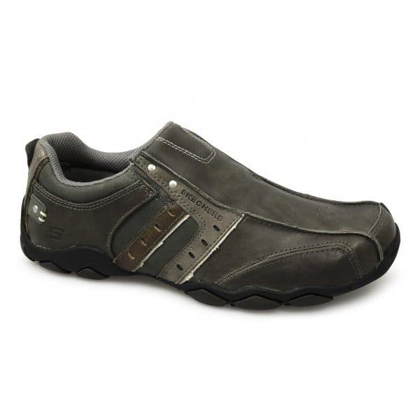 skechers diameter heisman mens slip on shoes charcoal