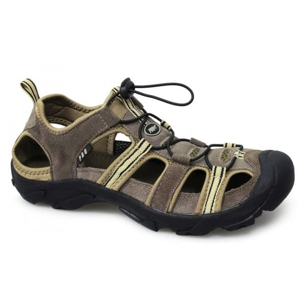 Mens Suede Leather Toggle Closed Toe Summer Walking Trail