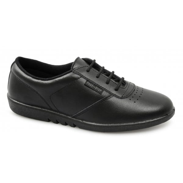 Womens-Ladies-Leather-Cushioned-Slip-Resistant-Leisure-Oxford-Shoes