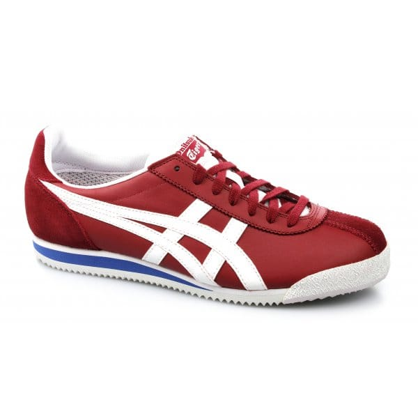 onitsuka tiger corsair leather white blue red