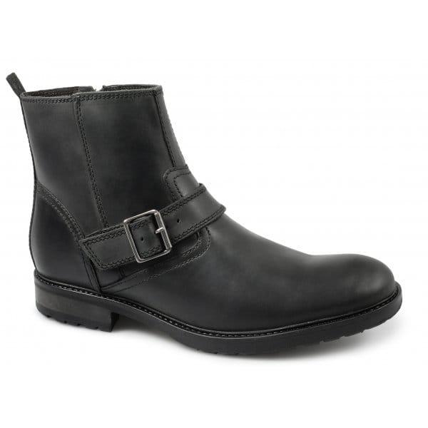 ikon chuck mens leather buckle side zip casual harley