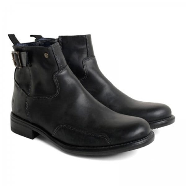 base norton mens leather buckle boots black buy