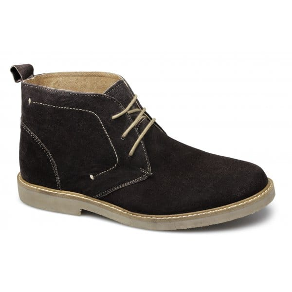 harrykson mens suede leather comfy desert boots brown